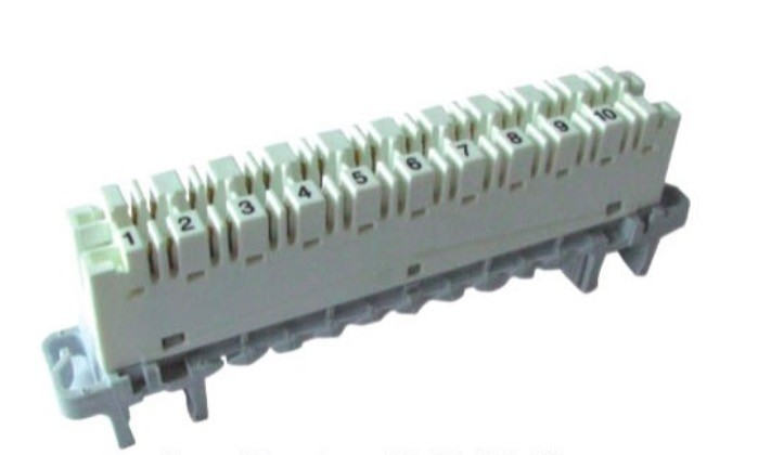PC Material 110 Terminal Block Highband 10 Pair Module White Body Grey Base
