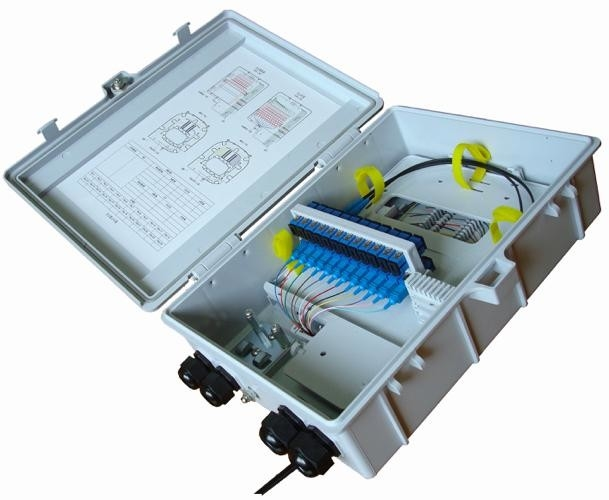 1 * 16 Fiber Distribution Box Cable Termination Box 24 Core For FTTH System