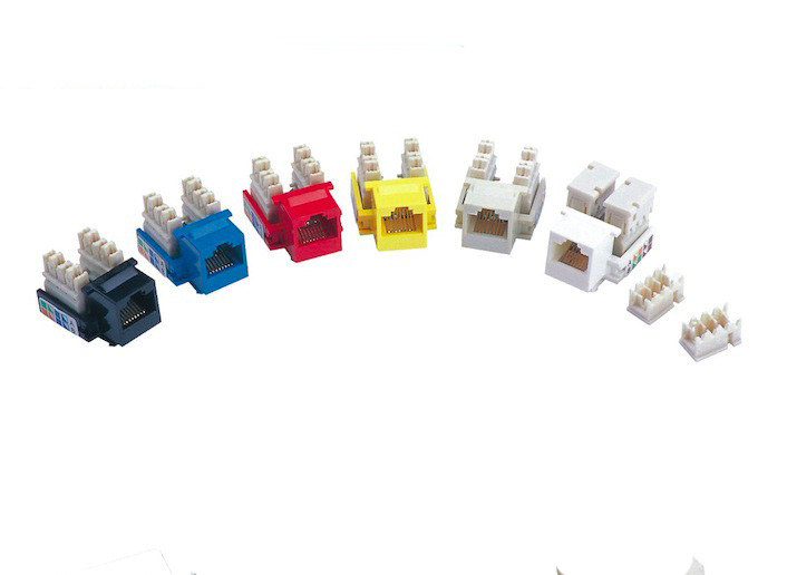 Cat5e Toolless Keystone Jack UTP Rj45 Punch Down Jack Color Customized