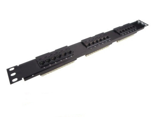110 IDC UTP Rack Mount Patch Panel 18 Ports 1U Cat5e Wtih 180 Degree Angle
