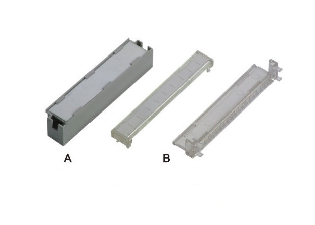 Grey 100 Pair Terminal Block Module Plastic Label Holders For LSA Back Mount Frame