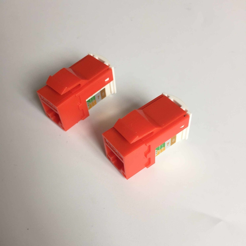 UTP 90 Degree CAT6 RJ45 Keystone Jack Color Customized For Network Communication