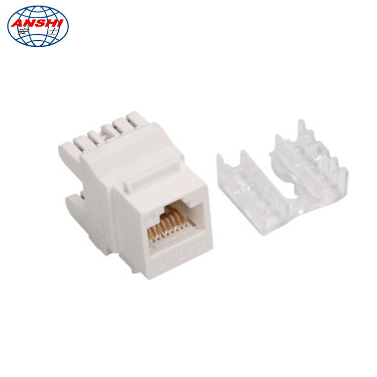 100% Pass Fluck Test RJ45 CAT6 UTP 180 Degree Keystone Jack Modular Jack