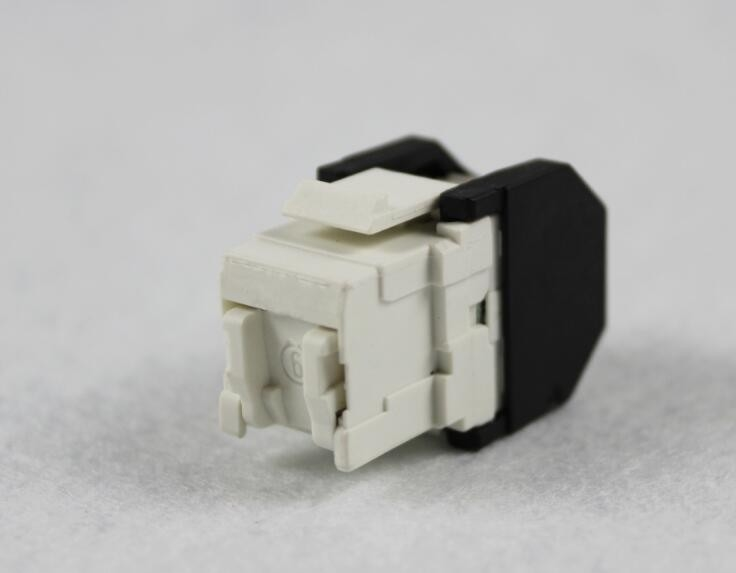 3M Type CAT6 RJ45 UTP Unshielded 180 Degree Keystone Jack For Network