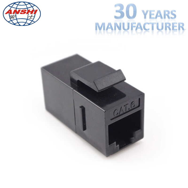 Cat6 UTP RJ45 Keystone Jack , 8P8C Female Jack Inline Coupler Connector Adapter