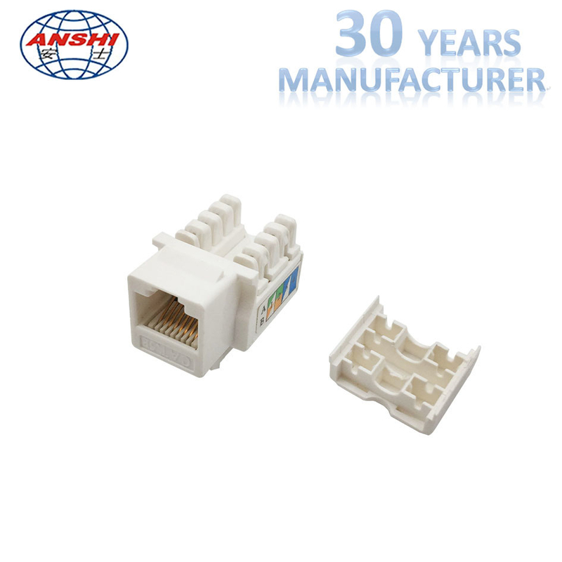 90 Degree Network RJ45 Keystone Jack Cat5e UTP 8P8C With Gold Plating